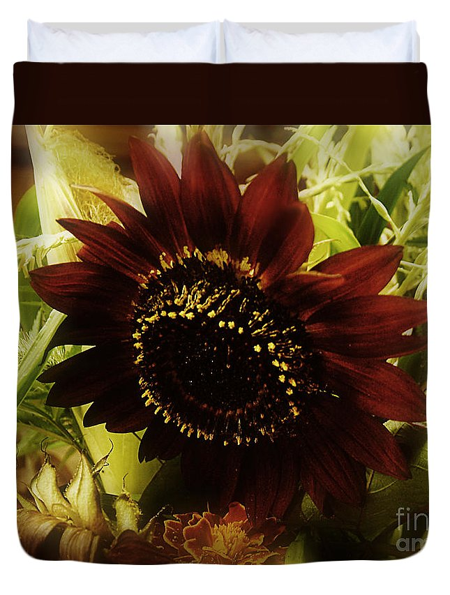 Sunflower Duvet Cover featuring the photograph The Softness Of Autumn by RC DeWinter