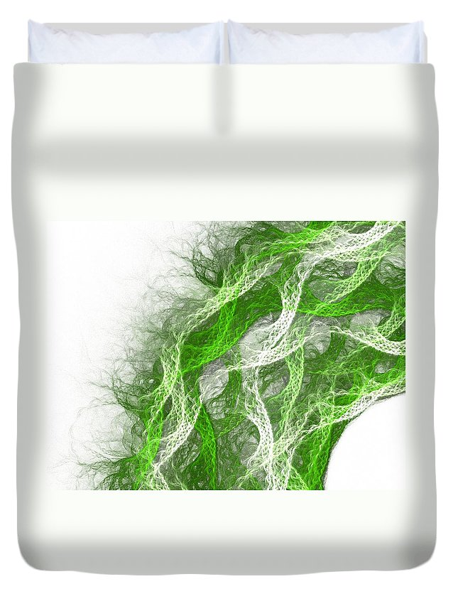 Thread Duvet Cover featuring the painting The Thread by Steve K