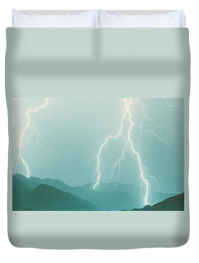Lightning Duvet Cover featuring the photograph The Walk by James BO Insogna