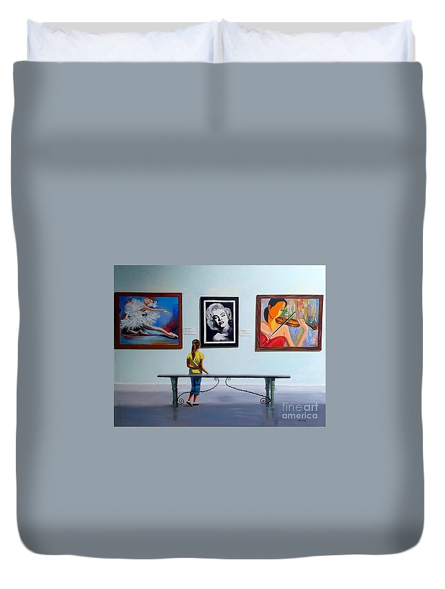 Dancing Duvet Cover featuring the painting I want to be by Jose Manuel Abraham
