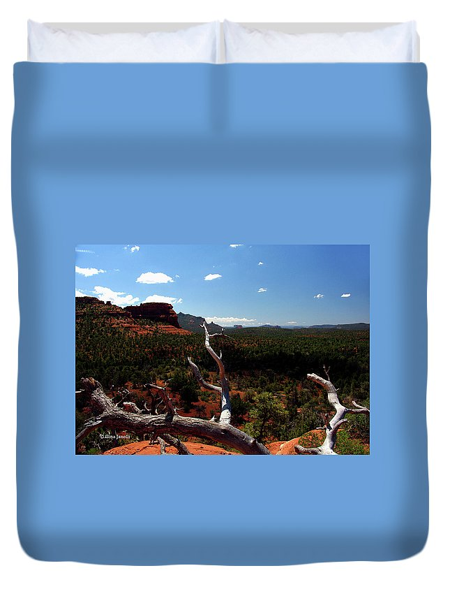 Sedona Duvet Cover featuring the photograph To See by Gina Janelli