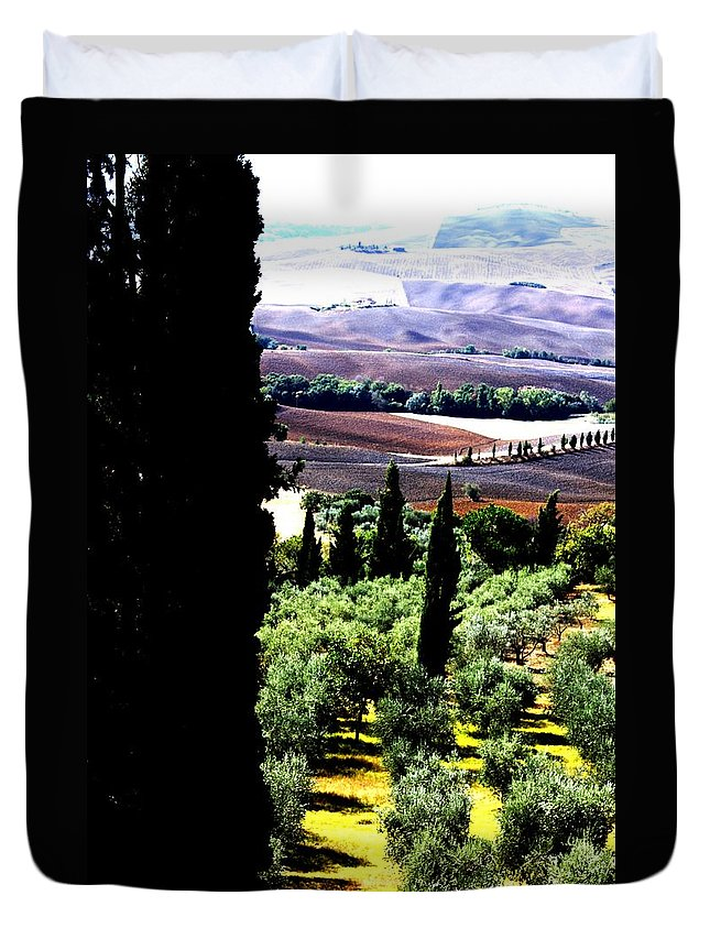 Toscana Duvet Cover featuring the photograph Toscana Quilt by Pat Purdy