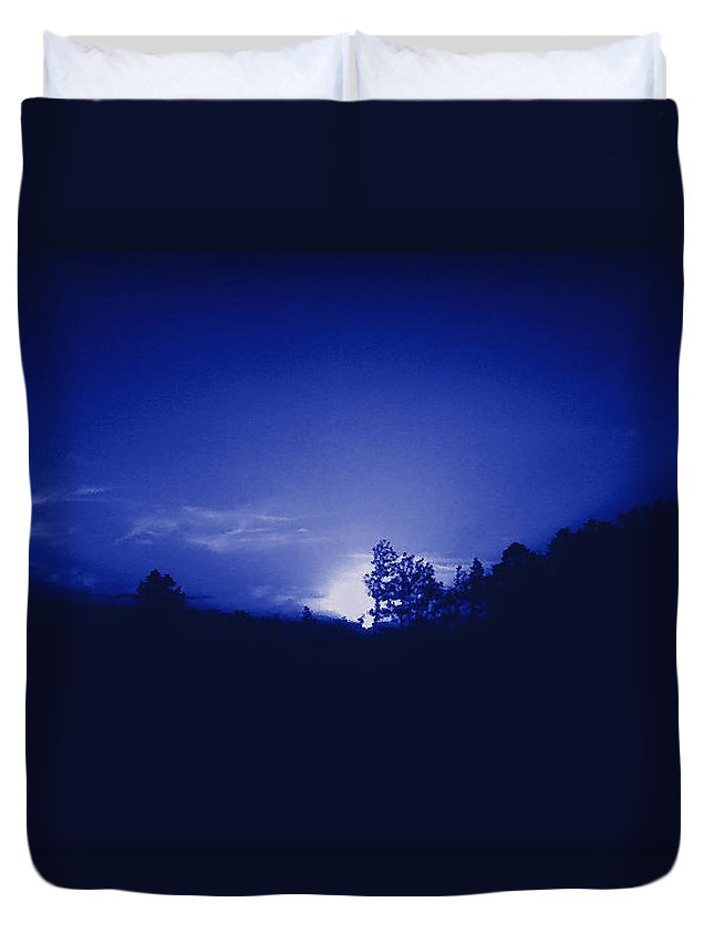 Sky Duvet Cover featuring the photograph Where The Smurfs Live 2 by Max Mullins