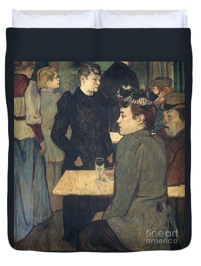 1892 Duvet Cover featuring the photograph Toulouse-lautrec, 1892 by Granger