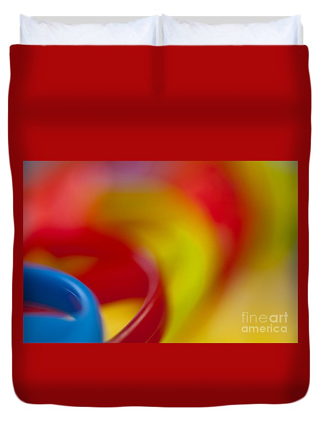 Abstract Duvet Cover featuring the photograph Toy Abstract by Jim Corwin