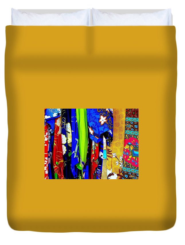 Colorful Duvet Cover featuring the photograph Tropical Colors by Clifton Facey