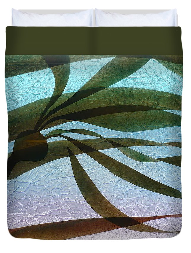 Original Duvet Cover featuring the painting Under Currents  Detail by Rick Silas
