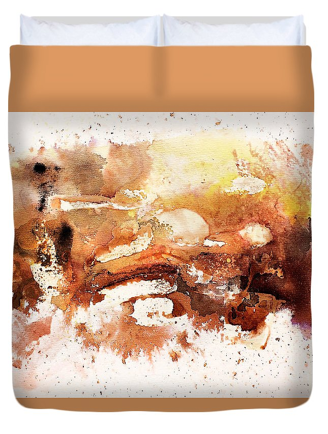 Abstract Duvet Cover featuring the painting Untitled by Angelina Cornidez