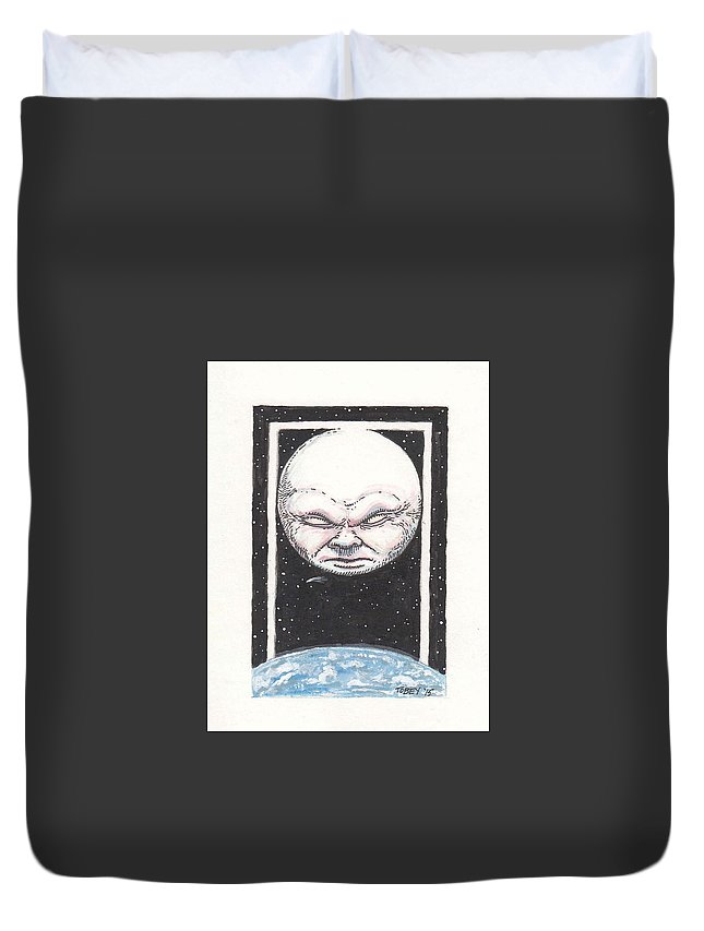 Moon Duvet Cover featuring the painting Untitled by Tobey Anderson