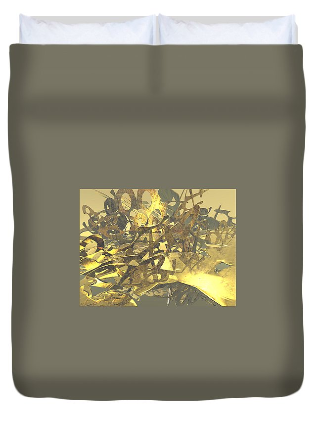 Scott Piers Duvet Cover featuring the painting Urban Gold by Scott Piers