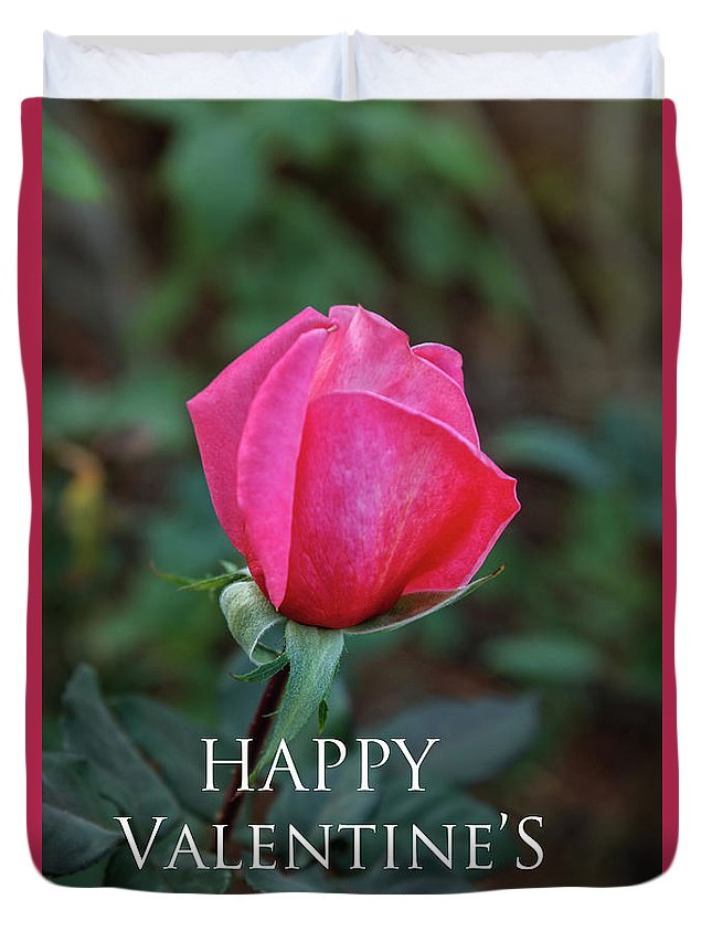 Holiday Duvet Cover featuring the photograph Valentine Rose by Robert Bales
