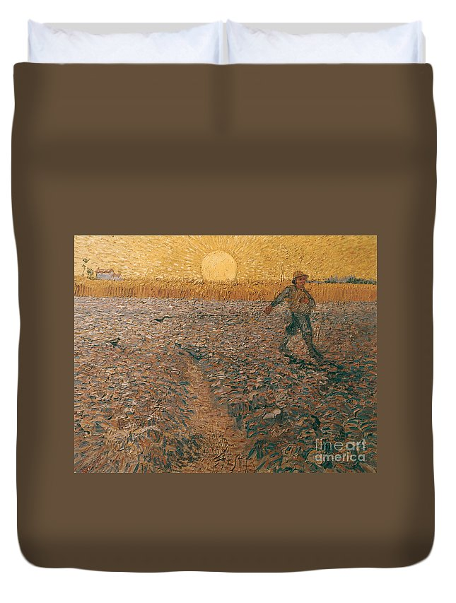 1888 Duvet Cover featuring the photograph Van Gogh: Sower, 1888 by Granger