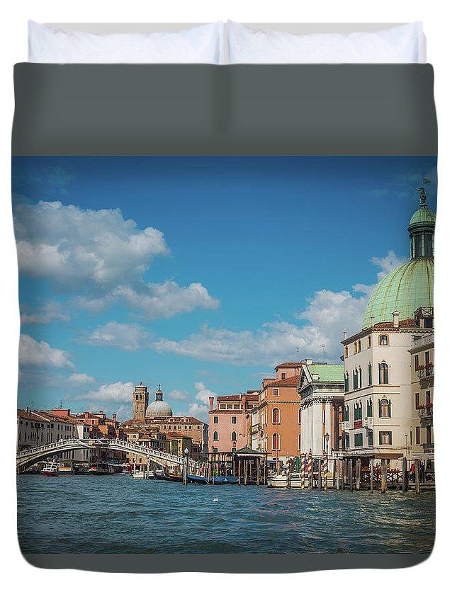 Italy Duvet Cover featuring the photograph Venice Panorama by Anastacia Petropavlovskaja