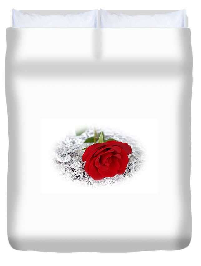 Rose Duvet Cover featuring the photograph Victorian Rose by Kristin Elmquist