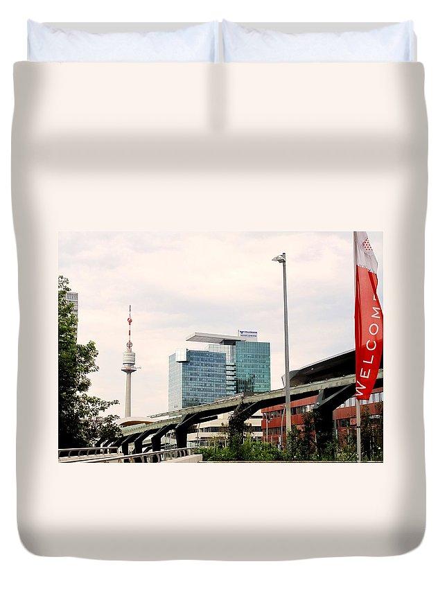 Vienna Duvet Cover featuring the photograph Vienna Modern by Ian MacDonald