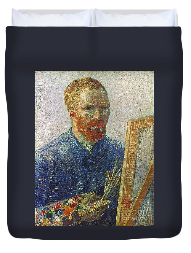 19th Century Duvet Cover featuring the photograph Vincent Van Gogh (1853-1890) by Granger