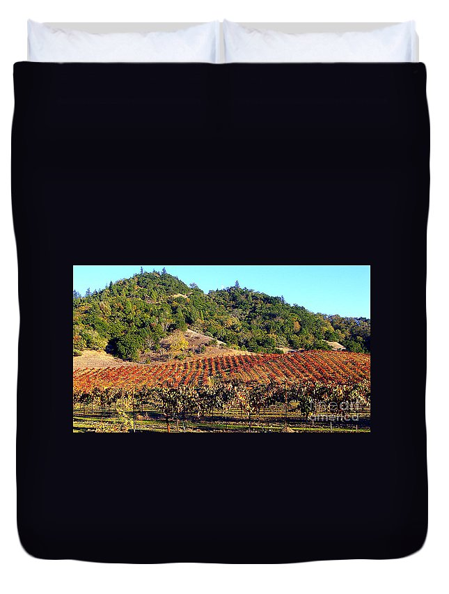 North California Napa Valley Wine Country Duvet Cover featuring the photograph Vineyard 3 by Xueling Zou
