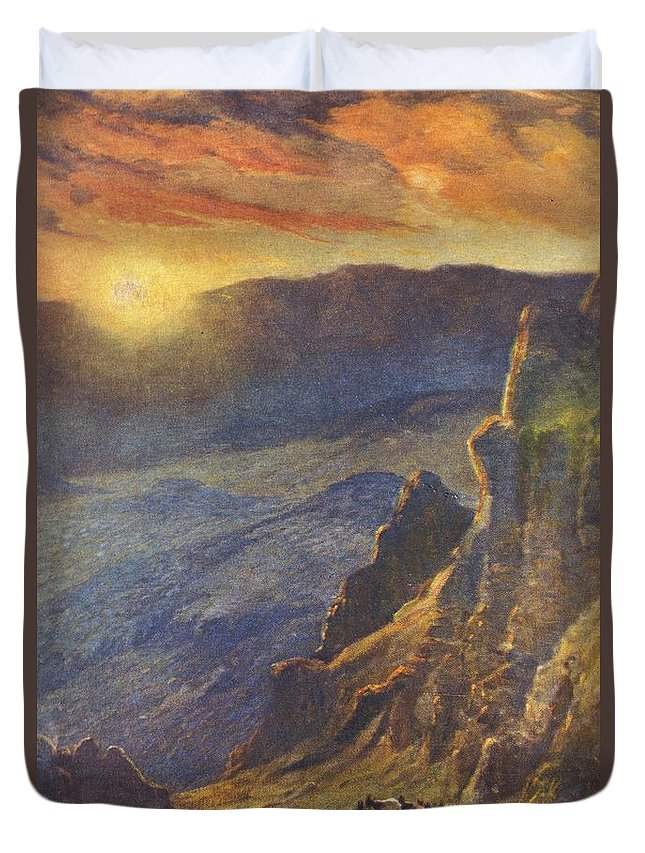 1923 Duvet Cover featuring the painting Vintage Hawaiian Art by Hawaiian Legacy Archive - Printscapes