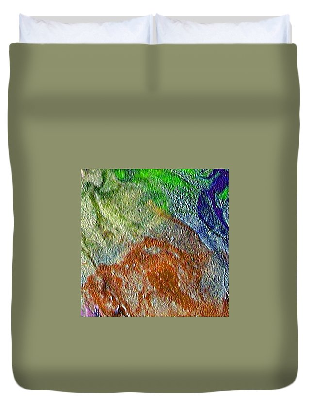 Abstract Duvet Cover featuring the painting W 045 by Dragica Micki Fortuna