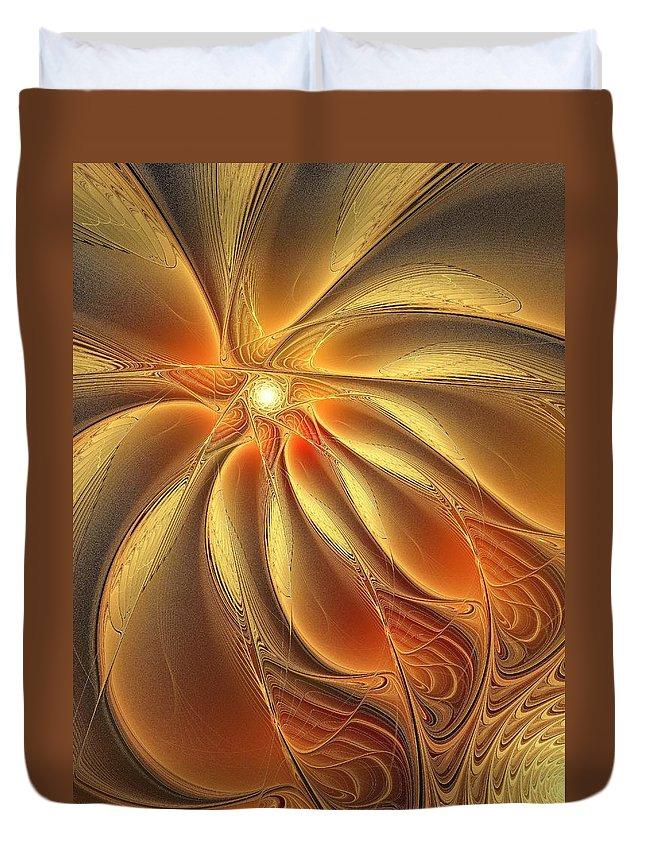 Digital Art Duvet Cover featuring the digital art Warm Feelings by Amanda Moore
