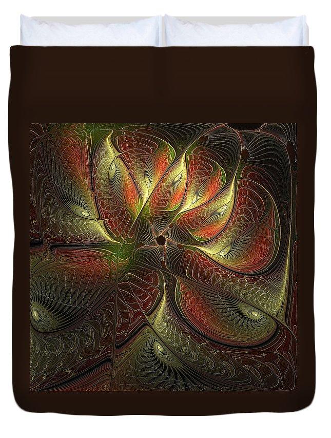 Digital Art Duvet Cover featuring the digital art Watchful by Amanda Moore