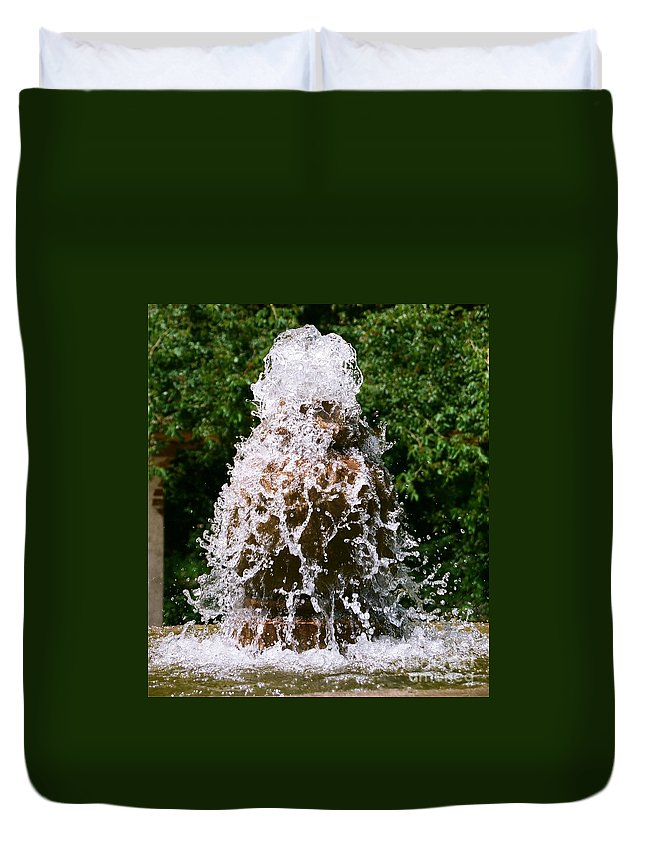 Water Duvet Cover featuring the photograph Water Fountain by Dean Triolo