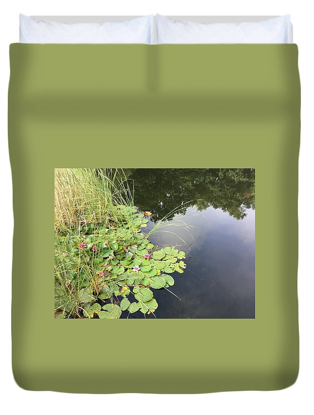 Duvet Cover featuring the photograph Water Lillies by ISABELLE Foley
