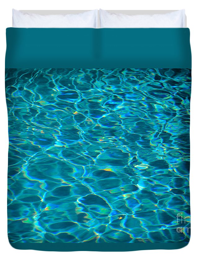 Aqua Duvet Cover featuring the photograph Water Reflections by Mary Van de Ven - Printscapes