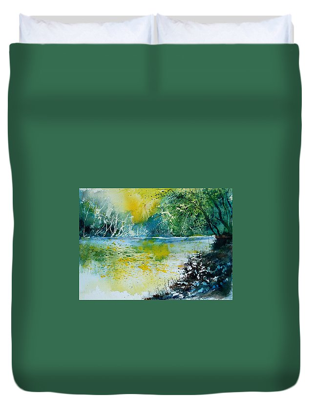Water Duvet Cover featuring the painting Watercolor 051108 by Pol Ledent