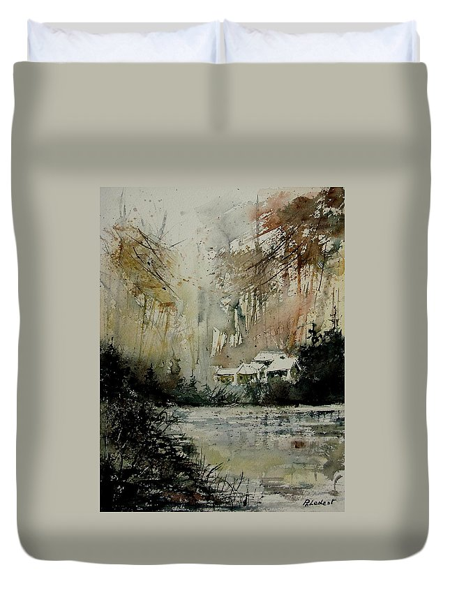 Water Duvet Cover featuring the painting Watercolor 070608 by Pol Ledent