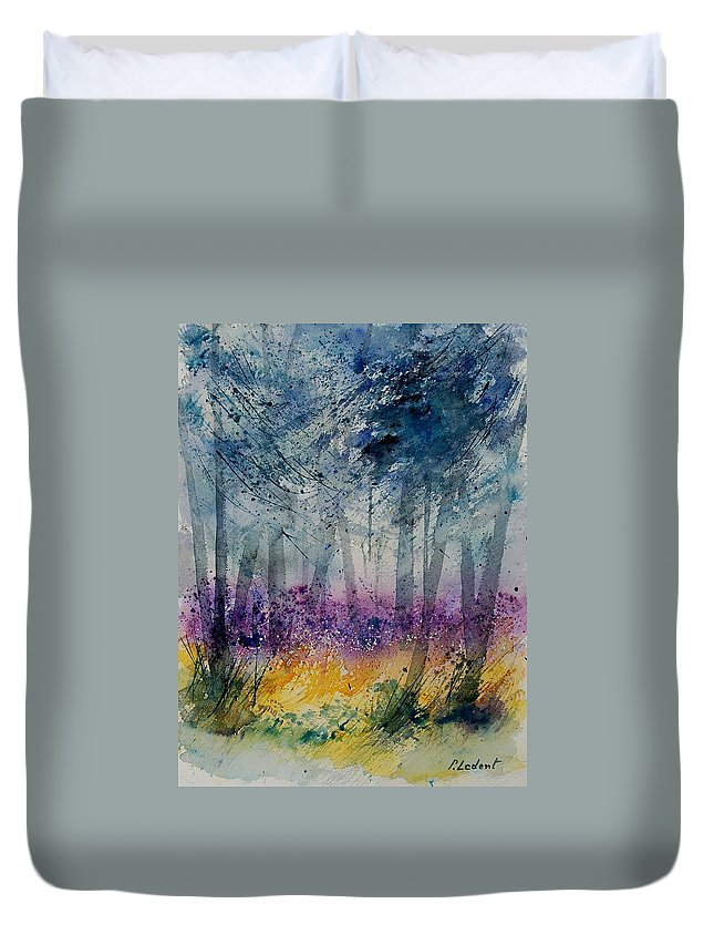 Flowers Duvet Cover featuring the painting Watercolor 130608 by Pol Ledent