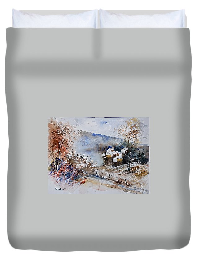 Winter Duvet Cover featuring the painting Watercolor 902091 by Pol Ledent