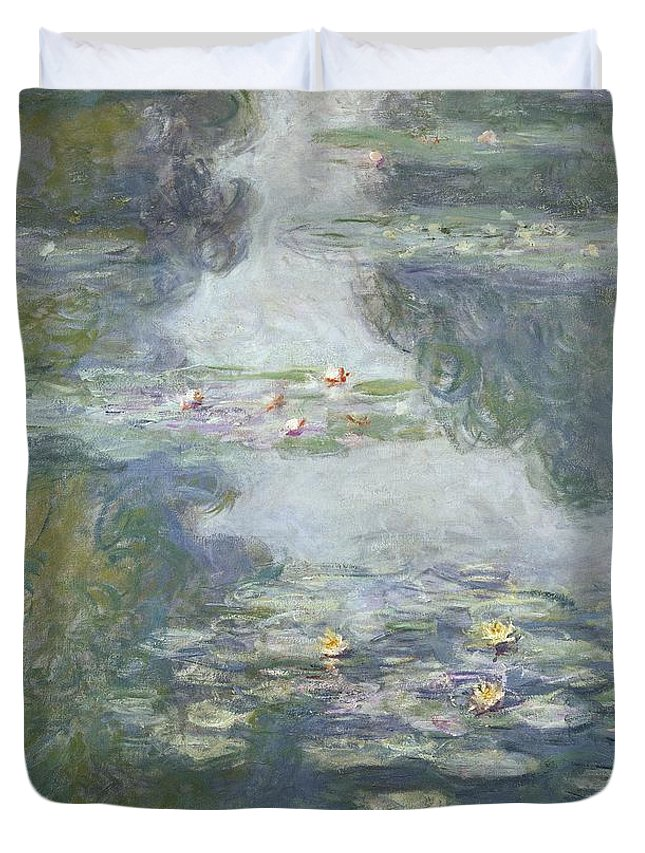 Pads Duvet Cover featuring the painting Waterlilies by Claude Monet