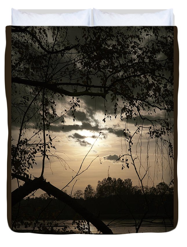 Sunset Duvet Cover featuring the photograph When The Night Comes by Steffen Krahl