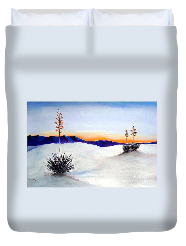 White Sands Duvet Cover featuring the painting White Sands by Melinda Etzold