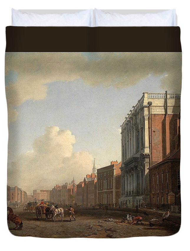 William Marlow Duvet Cover featuring the painting Whitehall by William Marlow