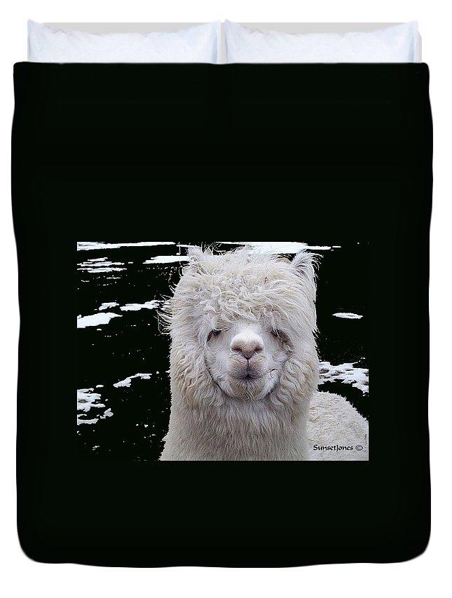 Alpaca Duvet Cover featuring the digital art Wild Life by Robert Orinski