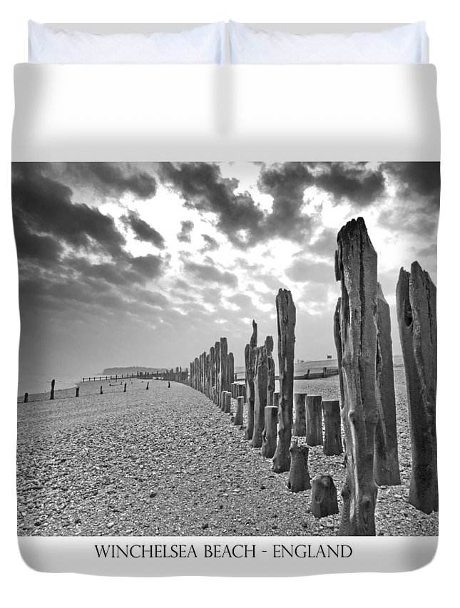 Winchelsea Beach Duvet Cover featuring the photograph Winchelsea Beach Sussex by Chris Pickett
