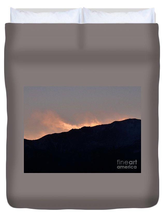 Winter Duvet Cover featuring the photograph Windblown by CL Redding
