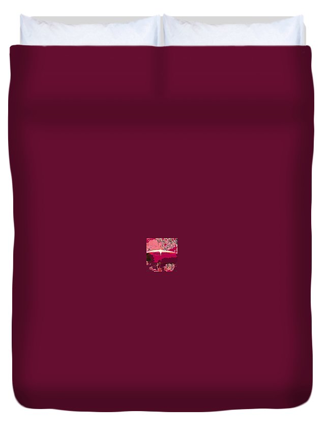 Wine Duvet Cover featuring the photograph Wine And Roses by Ian MacDonald