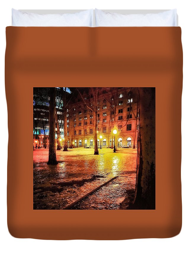 Ice Duvet Cover featuring the photograph Winter by Robert Villano