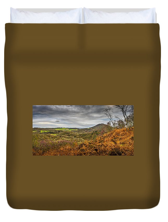 Storm Duvet Cover featuring the photograph Wrekin View by Mark Llewellyn