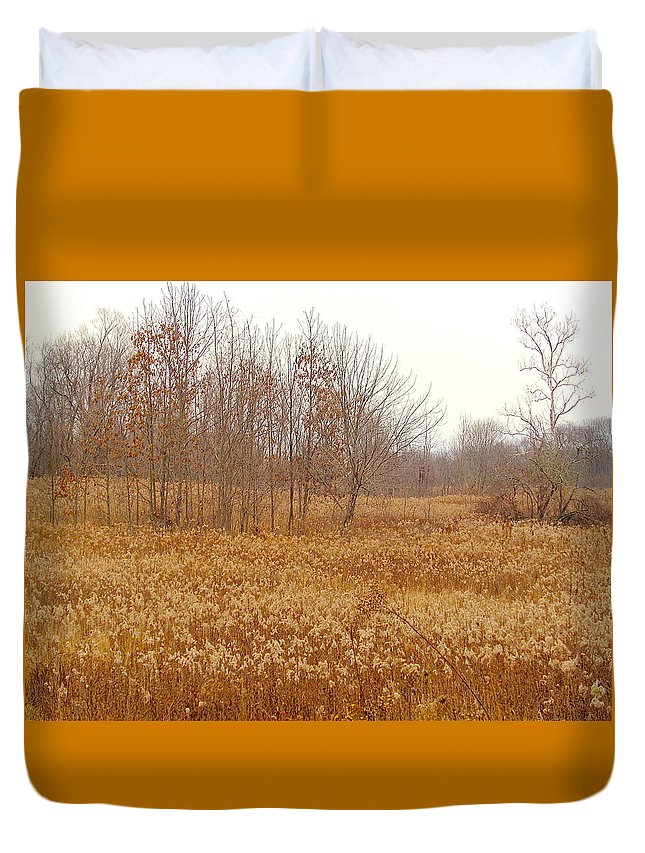 Yellow Duvet Cover featuring the photograph Yellow Autumn by Wendy Yee