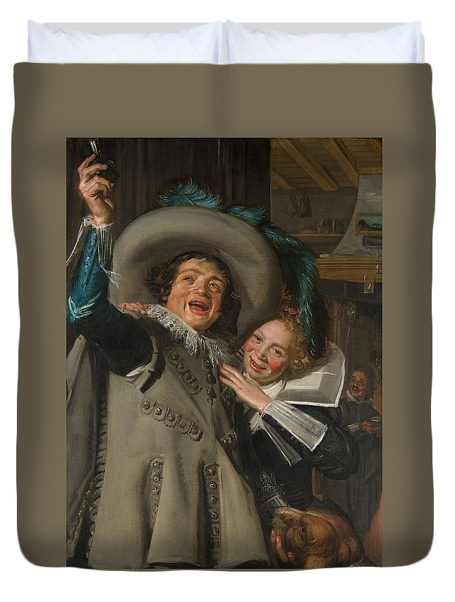 Baroque Duvet Cover featuring the painting Yonker Ramp And His Sweetheart by Frans Hals