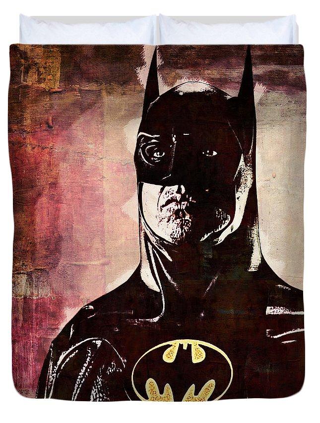 Batman Duvet Cover featuring the digital art Batman by Anna J Davis