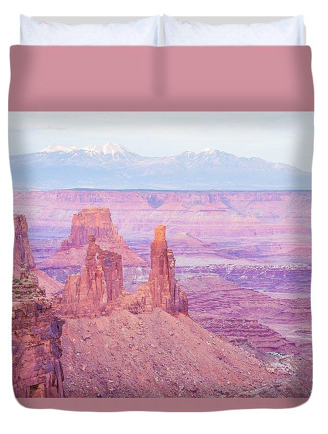Park Duvet Cover featuring the photograph Canyonlands National Park Utah by Alex Grichenko