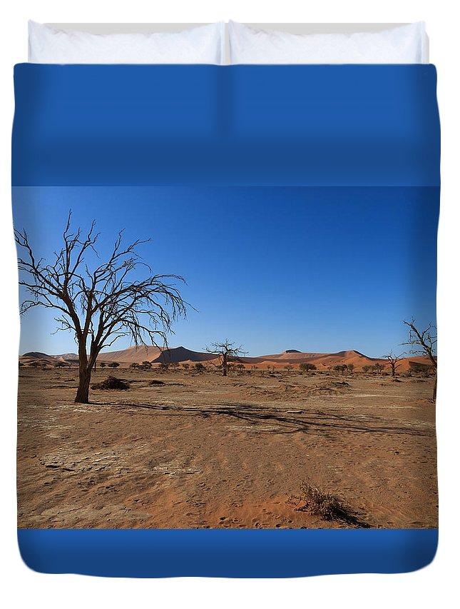 Kalahari Duvet Cover featuring the photograph Death Tree Hidden Vlei by Davide Guidolin