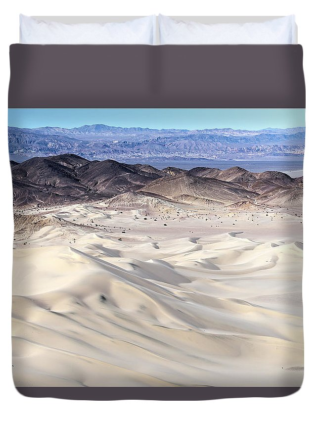 Aerial Shots Duvet Cover featuring the photograph Dumont Dunes 10 by Jim Thompson
