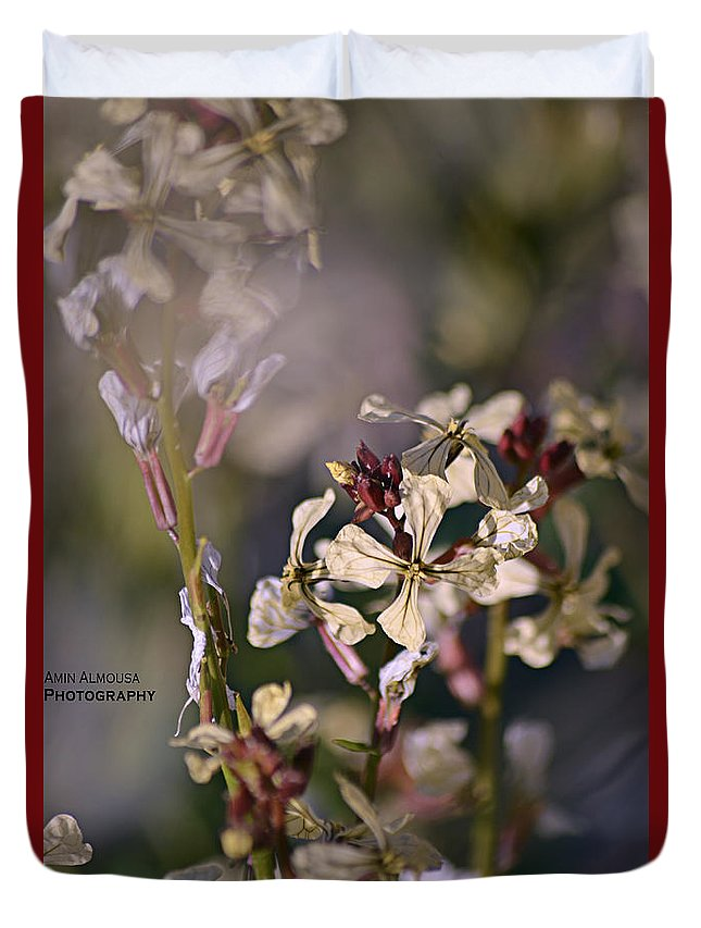 Single Duvet Cover featuring the photograph Flowers by Amin Almousa