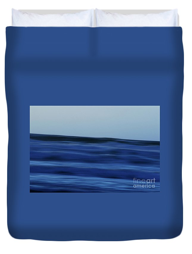 Waves By Jenny Potter Duvet Cover featuring the photograph Blue Waters by Jenny Potter